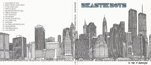 To the 5 Boroughs album art. Drawn by architect-turned-artist Matteo Pericoli. Photo via The Cover UP.