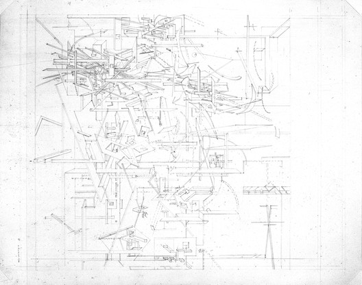 Daniel Libeskind, Micromegas Studies, 1978; graphite on paper; 26 x 36 1/4 in. each (66 x 92 cm); Collection SFMOMA, Accessions Committee Fund: gift of Pam and Dick Kramlich, Byron R. Meyer, Nancy and Steven Oliver, Leanne B. Roberts, and Collectors Forum; © Daniel Libeskind