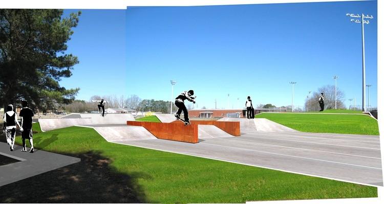 Skatepark Rendering © Rural Studio