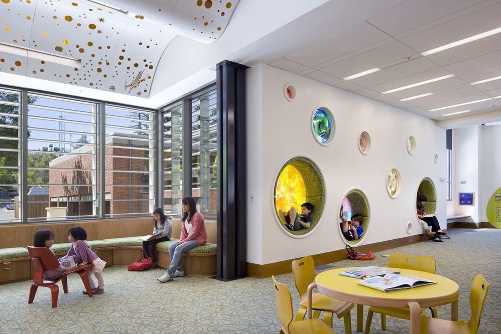 Gallery of los gatos public library noll tam for Reading space design