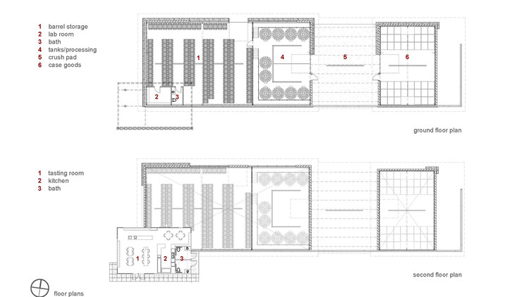 Vi a kukkula studio b architects archdaily m xico for Winery floor plans by architects
