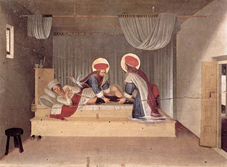 """""""San Cosme y San Damián sustituyen milagrosamente la pierna del Diácono Justiniano"""
