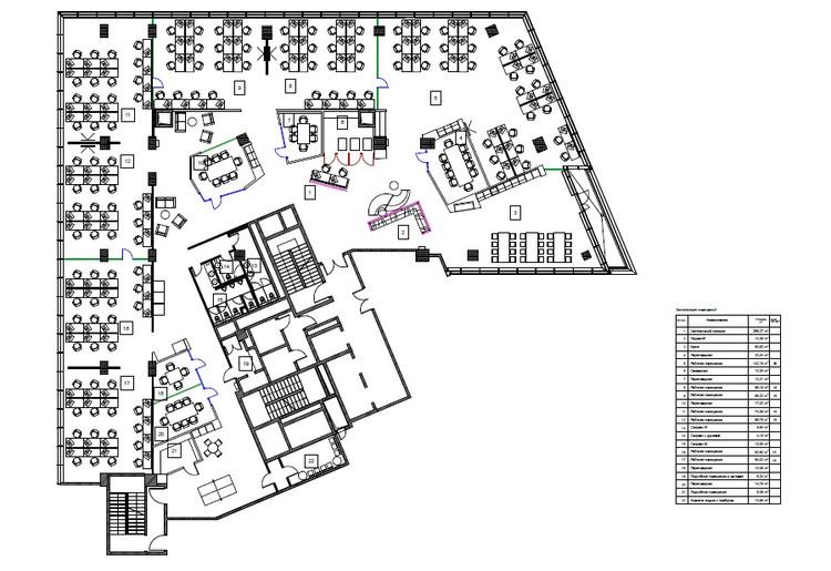 Oficinas badoo development za bor architects for Oficinas planta arquitectonica