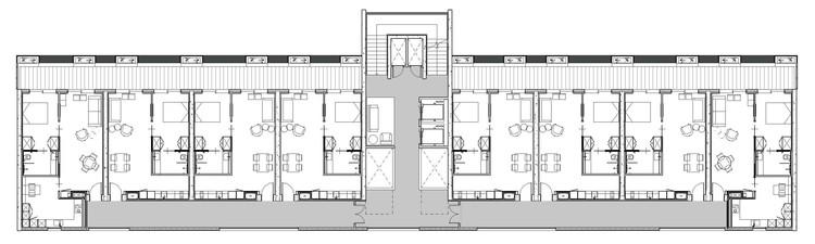 Planta tipo apartamentos