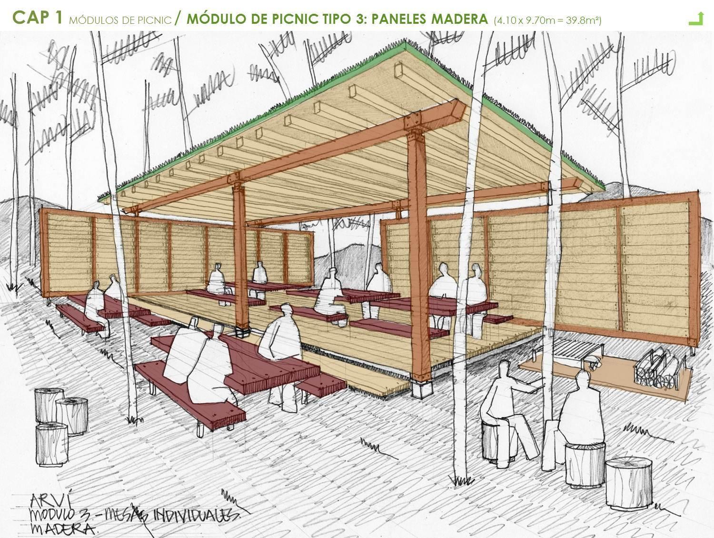 Galer a de mobiliario urbano para el parque arvi escala for Casa y jardin tienda