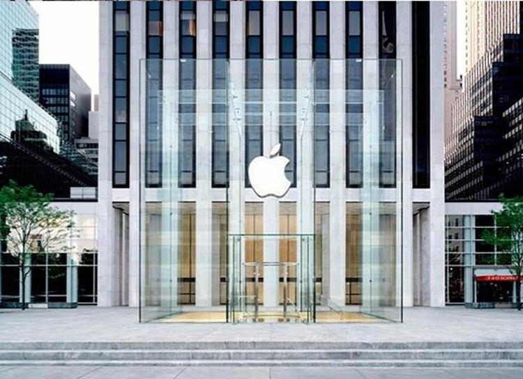 Render nueva caja de vidrio de la Apple Store en la 5ta Avenida, NY © Apple