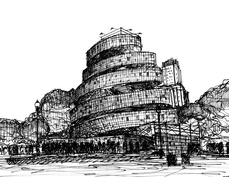 Torre de Babel. Marta Minujín. Plaza San Martín, Buenos AIres. Argentina. © Fabricio Contreras Ansbergs