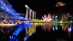 Marina Bay, Singapur: el horizonte urbano de hoy se define por luces de colores cambiantes