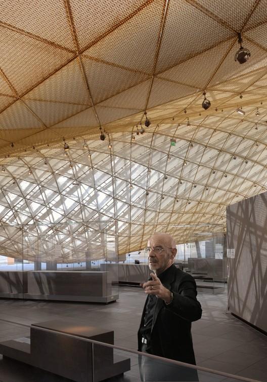 Mario Bellini visitando el Departamento de Arte Islámico en el Louvre. Cortesía de Mario Bellini architects