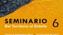 6º Seminario del Territorio al Detalle: Al Borde / Alvaro Puntoni / Nicolás Norero