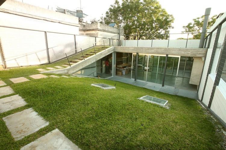 En detalle cortes constructivos techos verdes for Casas de chapa para jardin