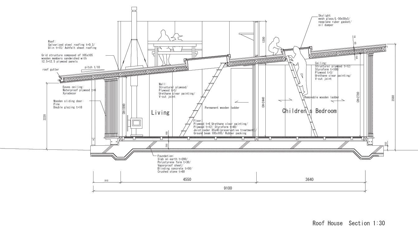 Galer a de en detalle cortes constructivos estructuras de madera 19 - Detalle constructivo techo ...