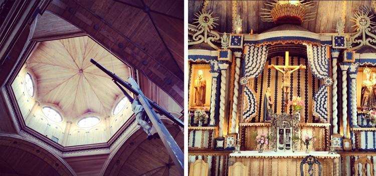 altar iglesia de Castro / altar iglesia de Achao
