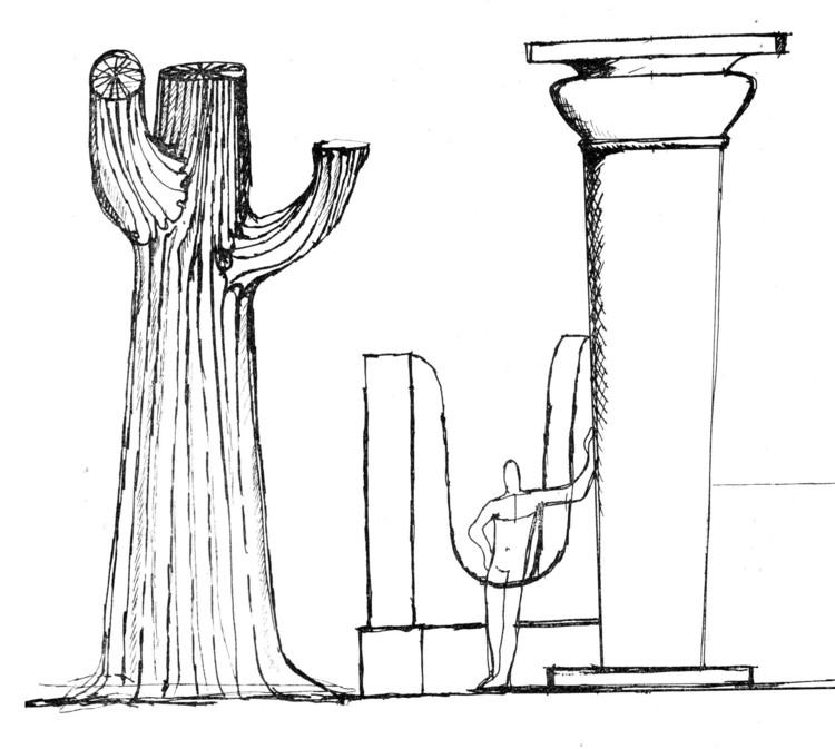 Naturaleza y orden artificial. Dibujo de Juan Borchers en Institución Arquitectónica
