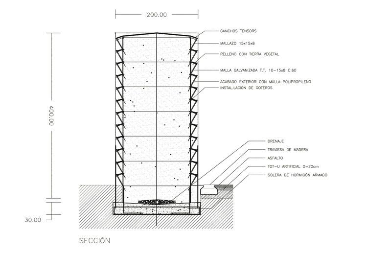 Detalle 1 / Muro de Tierra Vegetal