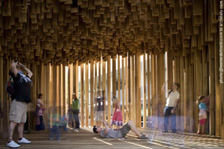 "Adjaye Associates - ""Sclera"" Size+Matter at the Southbank Centre, London UK © Leonardo Finotti"
