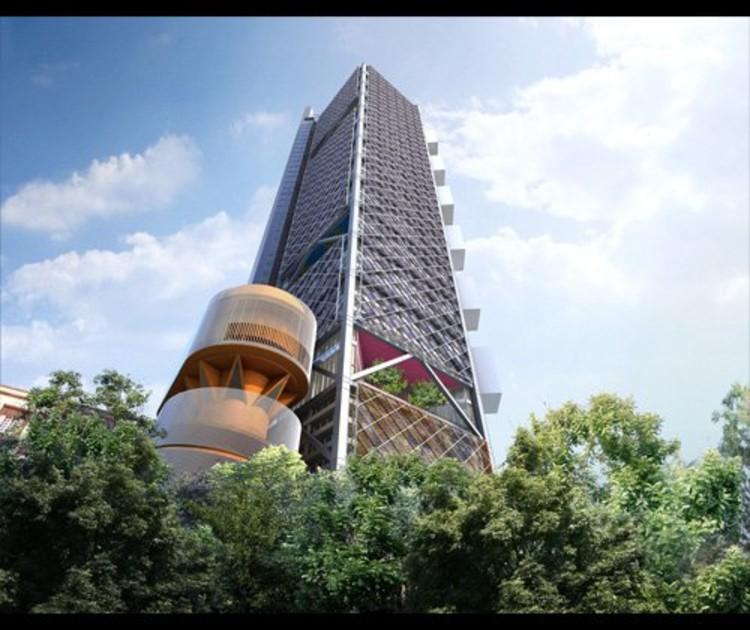 Render Torre Ejecutiva BBVA Bancomer - cortesía legorreta+legorreta