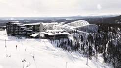 BIG diseña Resort de lujo en Finlandia cuyas cubiertas son verdaderas pistas de esquí