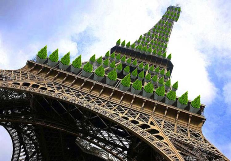"""Torre Eiffel """"Verde"""" podría eliminar 87.8 toneladas de dióxido de carbono en París"""