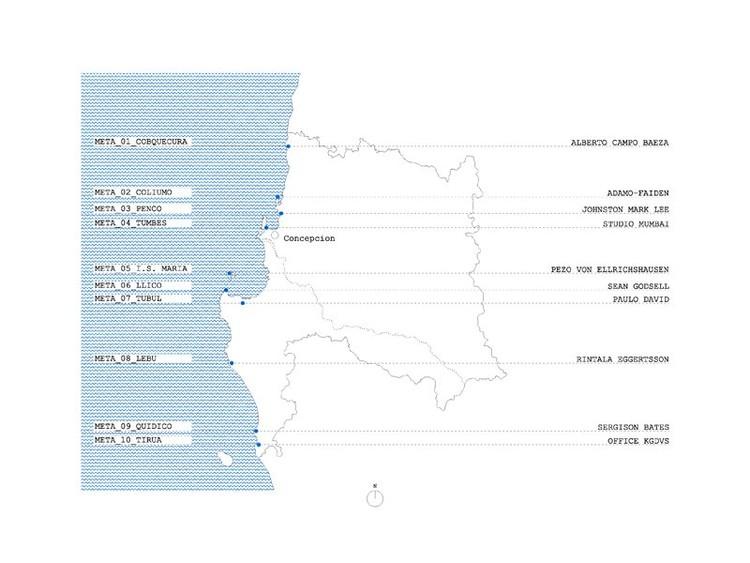META, los pabellones en la costa de la VIII Región