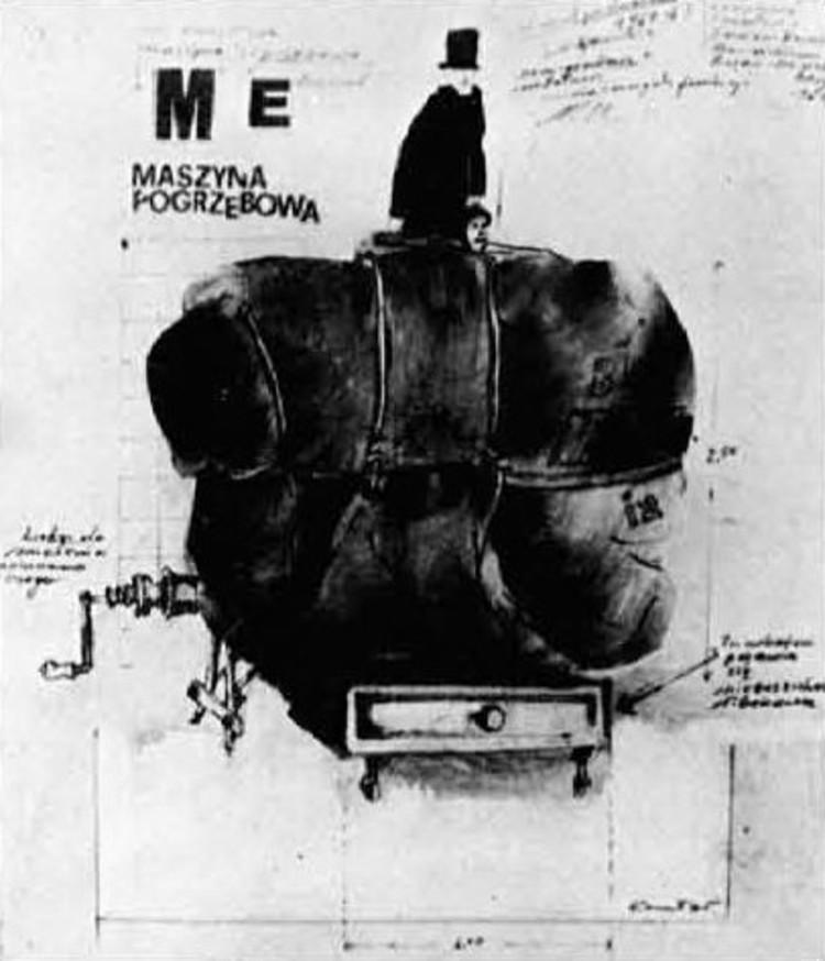 Tadeusz Kantor, Bio-objeto, La máquina funeraria, 1961