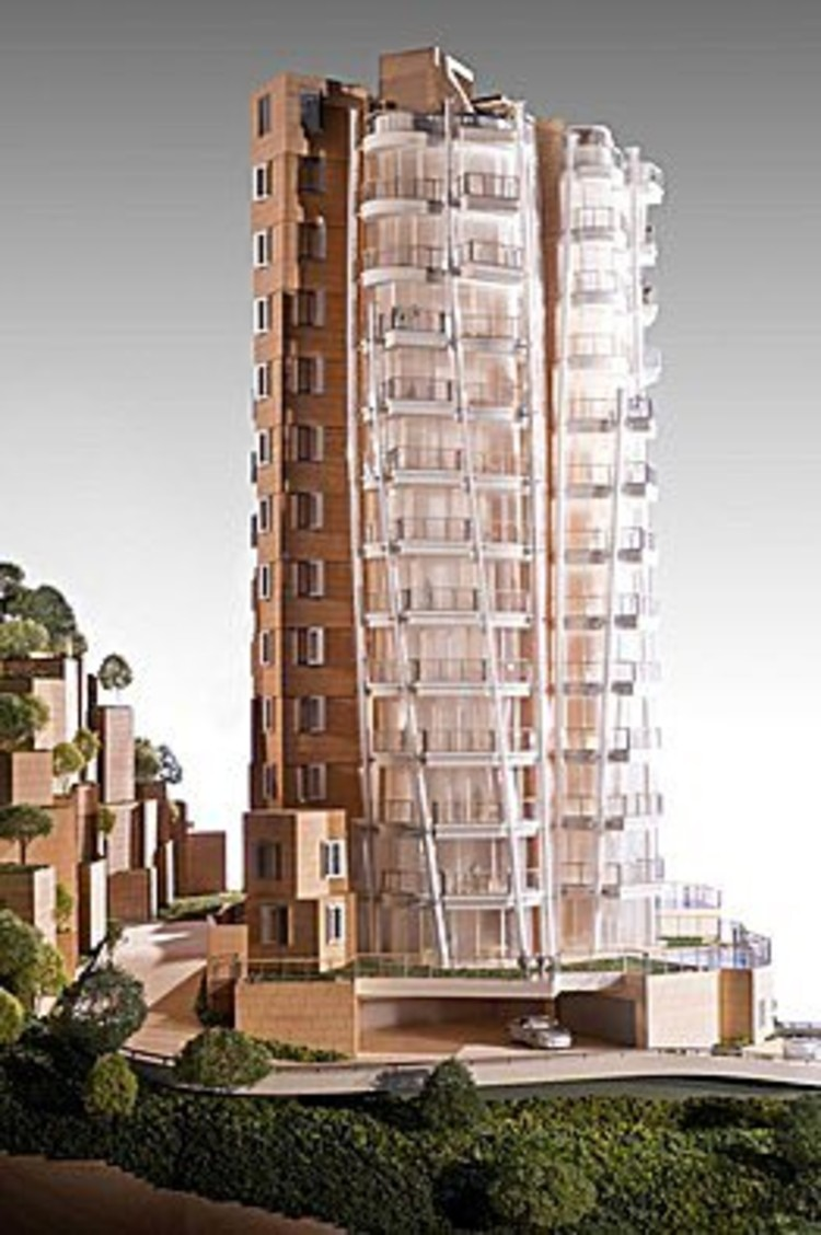 Un modelo del Opus Hong Kong, la propiedad diseñado por Frank Gehry en construcción en Hong Kong.