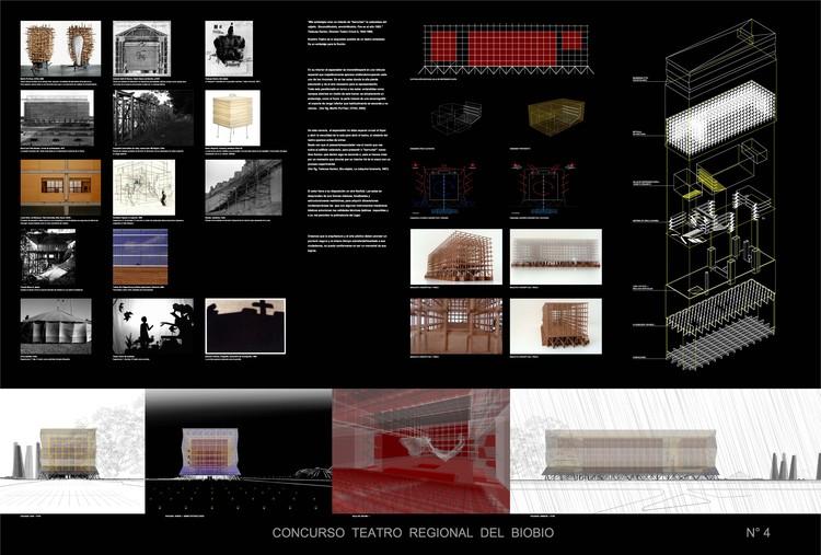 Lámina 4: Referencias, maqueta y renders © Smiljan Radic