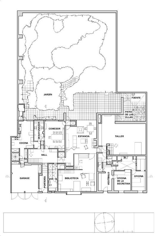 Cl sicos de arquitectura casa estudio luis barrag n for Plantas arquitectonicas de casas