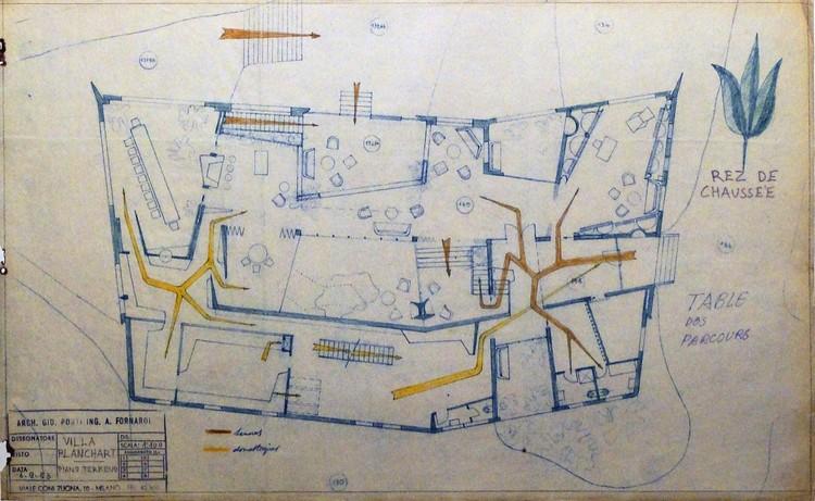 planos originales de Gio Ponti - planta circulaciones