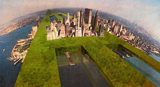 Il Monumento Continuo e Sostenibile, NewYork  © Original Superstudio, Cortesía de Adolfo Natalini
