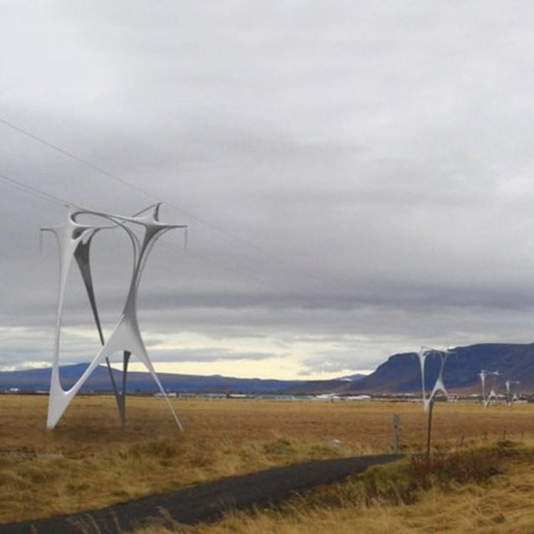 Torre de alta tensión en Islandia @ Arphenotype