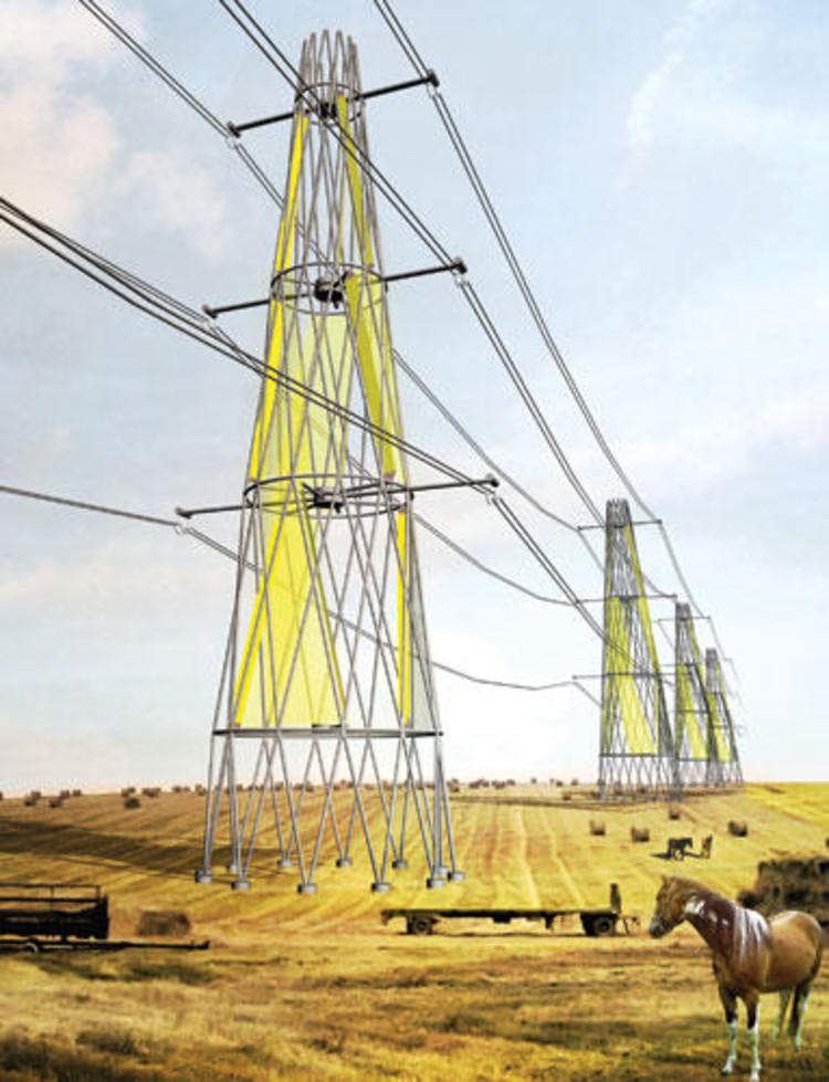 Torre de alta tensión generadora eólica @ Elioth + Encore Heureux