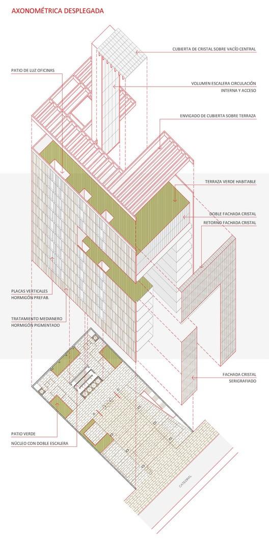 Axonométrica desplegada © Luis Corvalán Arquitectura + Lateral Arquitectura & Diseño