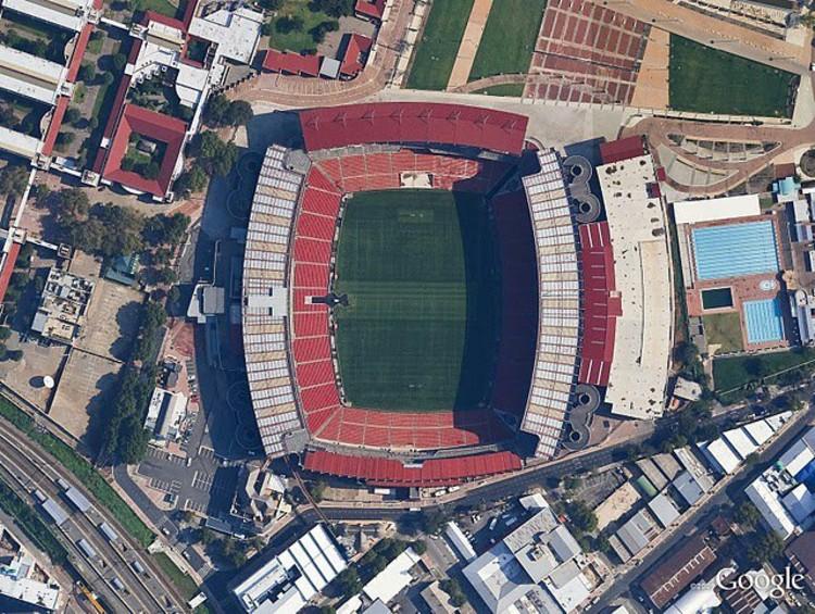 Ellis Park, Johannesburg, Image © DigitalGlobe, Google.