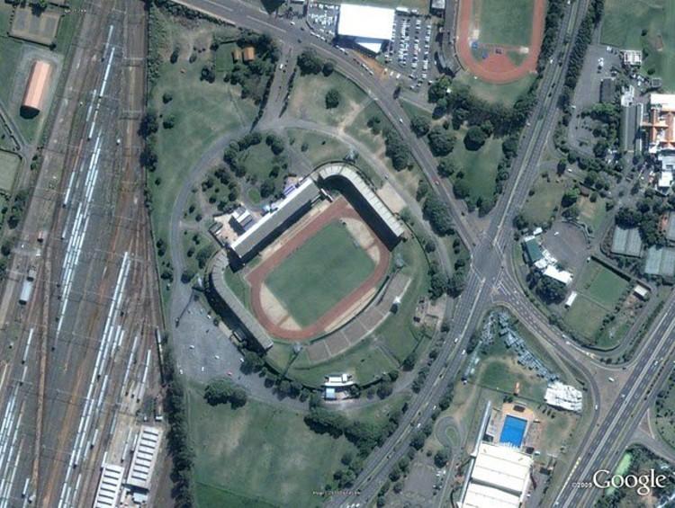 Moses Mabhida Stadium, Durban. Image © Google.