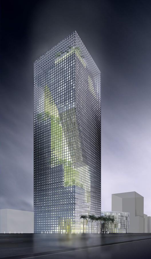 """Tall buildings: Al-Birr Foundation Headquarters """"Garden Tower"""", Riyadh, Saudi Arabia, designed by Perkins+Will for Al-Birr Foundation"""