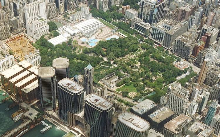 Vista Aérea del Parque Kowloon