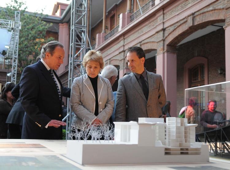Guillermo Hevia, Ministra Matte e Iñaki Volante © MINVU