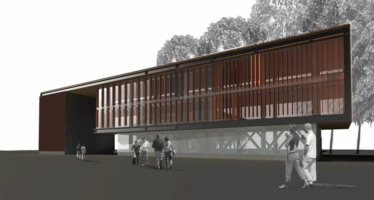 render: edificio portal. servicios informáticos
