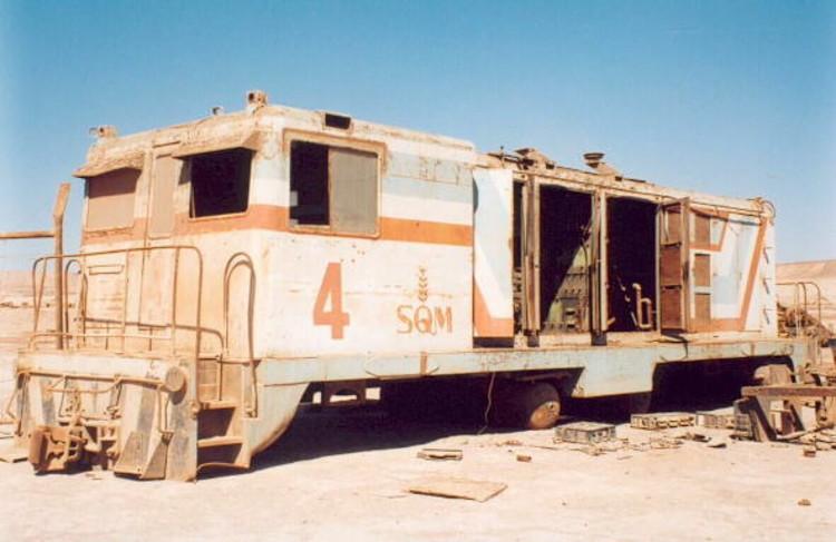 Ferrocarril en María Elena, 2004 - Foto por Mario González Vargas