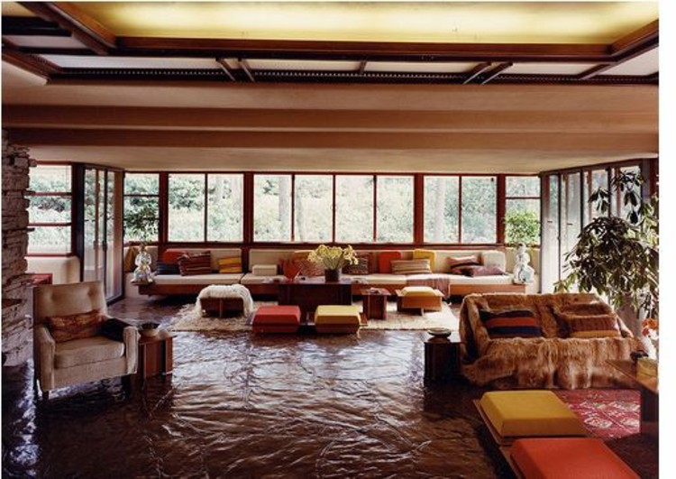 Cl sicos de arquitectura casa en la cascada frank lloyd wright plataforma arquitectura Frank lloyd wright the rooms interiors and decorative arts