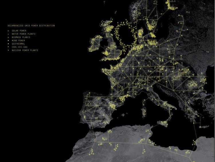 Grilla energética propuesta para Europa © AMO