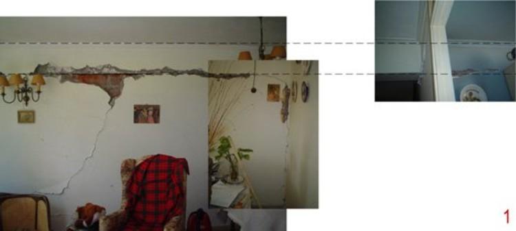 Detalle daño recurrente en conjunto. Separación viga de albañilería (c) Gonzalez, Puig.