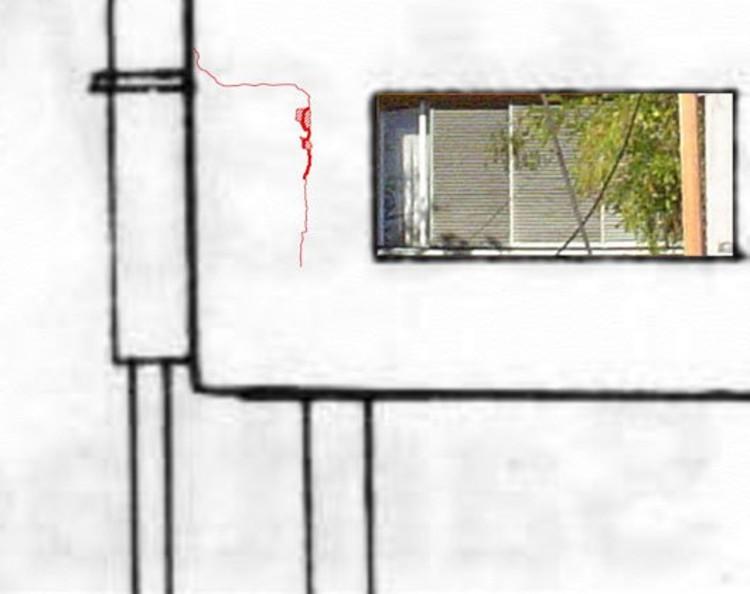 Detalle daño exterior departamento bloque B (c) Gonzalez, Puig