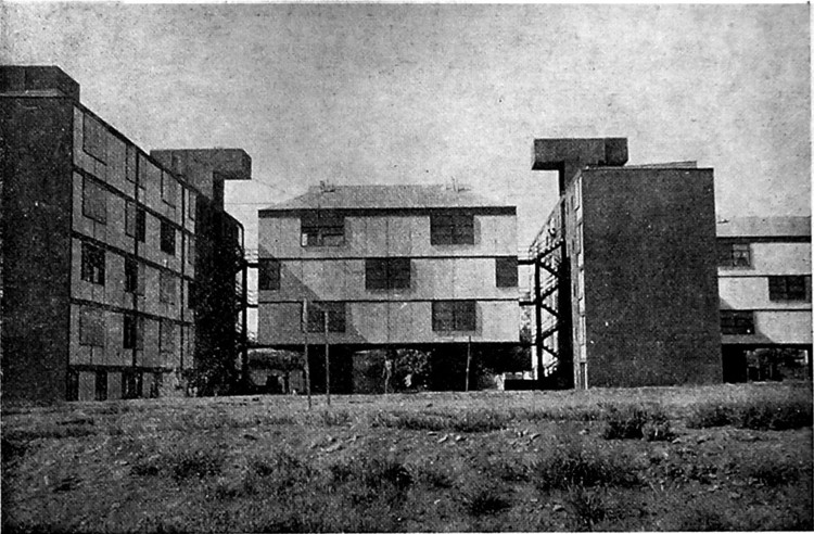 """Población Juan Antonio Rios. """"Pagodas"""". Hurtado, Geisse, 1953-1959"""