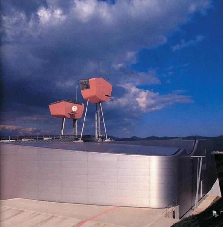 Museo Rias Ark exteriores 1994, en el distrito de Miyagi, Japón