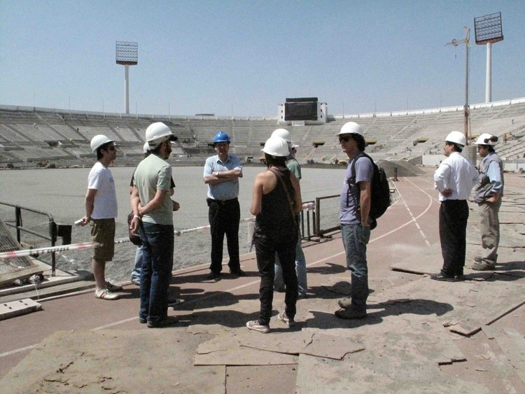 Visita a terreno (Estadio Nacional)