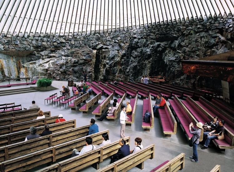 Iglesia de Temppeliaukio (Iglesia de Roca), Timo y Tuomo Suomalainen, 1969, Helsinki  © Cristóbal Palma