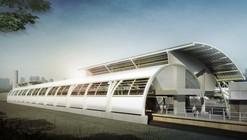 Cidade Nova, Estación de Metro y Pasarela Peatonal, Brasil