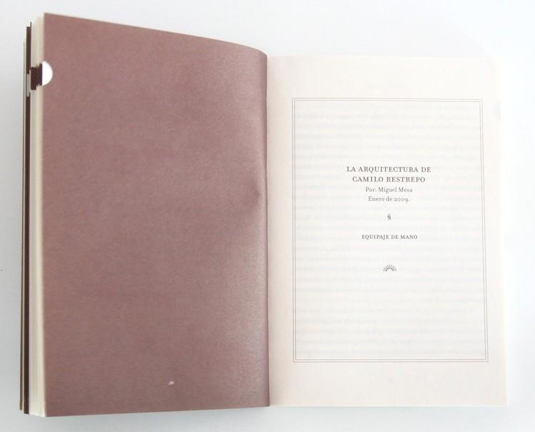 Equipaje de mano, La arquitectura de Camilo Restrepo, por Mesa Editores